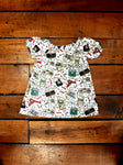 Indie Designer Dress / Toddler Top - With Nintendo NES inspired Fabric
