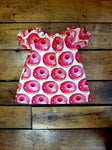 Indie Designer Dress / Toddler Top - With Retro Donut inspired Fabric