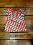 Indie Designer Dress / Toddler Top - With Retro Creamsicle inspired Fabric