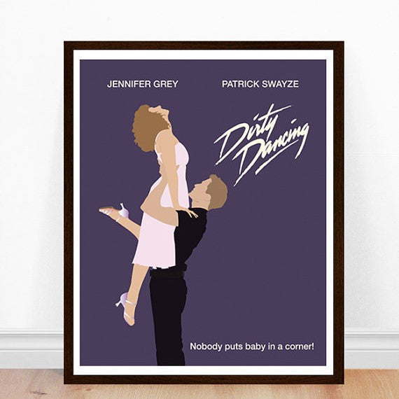Minimalist art print - Dirty Dancing - 11 x 14