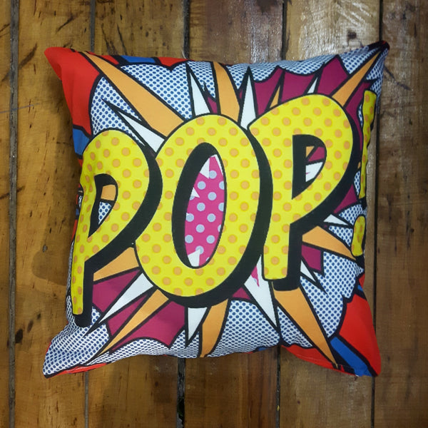 """Pop"" Art Pillow Case with Pillow Insert"