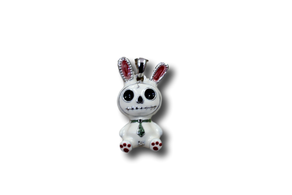 Bun Bun Furrybones White Bunny Rabbit Pendant Necklace