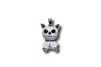Mao Mao Furrybones White Cat Kitten Pendant Necklace