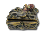 Steampunk Octopus Resin Hand Painted Treasure Trinket Jewelry Box