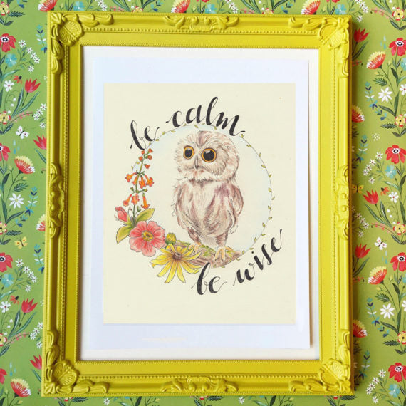 Prints - 8 x 10 - Owl - be wise