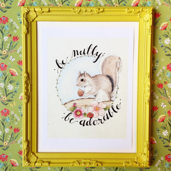 Prints - 8 x 10 - Squirell - be nutty