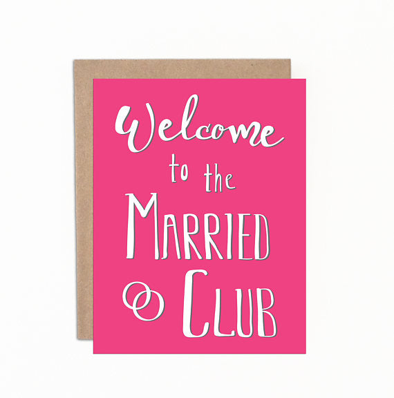 Greeting cards - Welcome to the married club