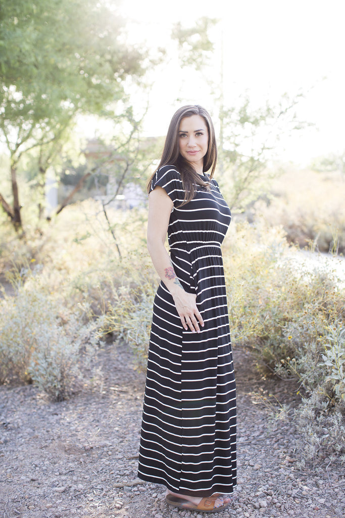 Black Stripe Maxi S-L