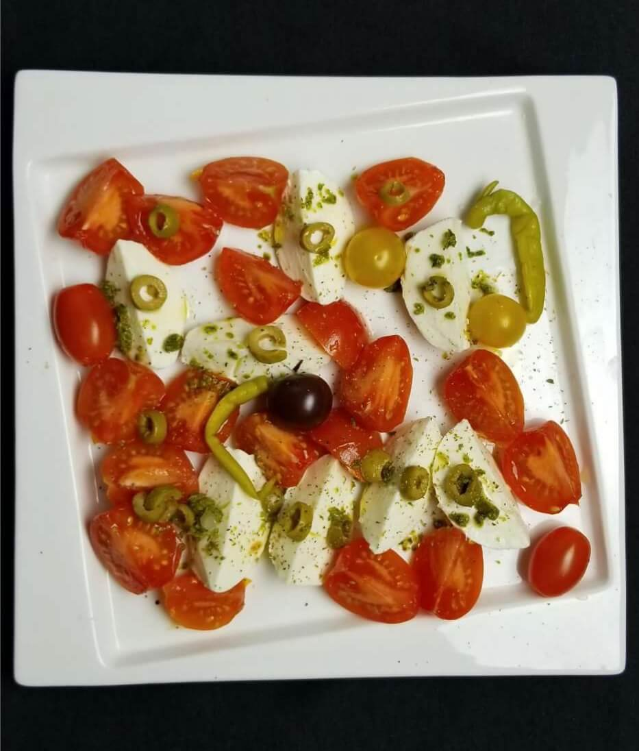 Burrata Salad with Green Olives