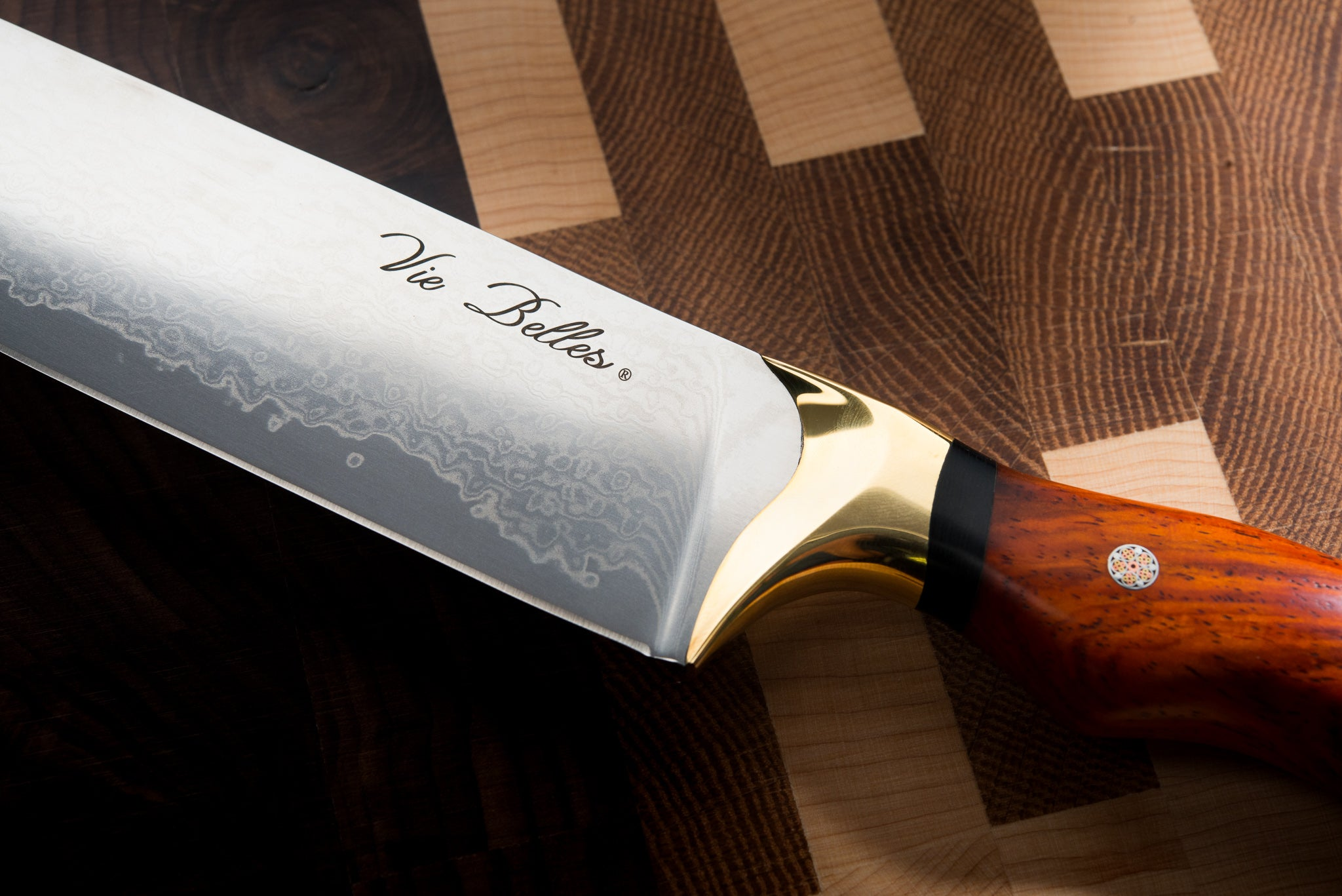 Vie Belles Luxury Pro Chef's Knife Close Up