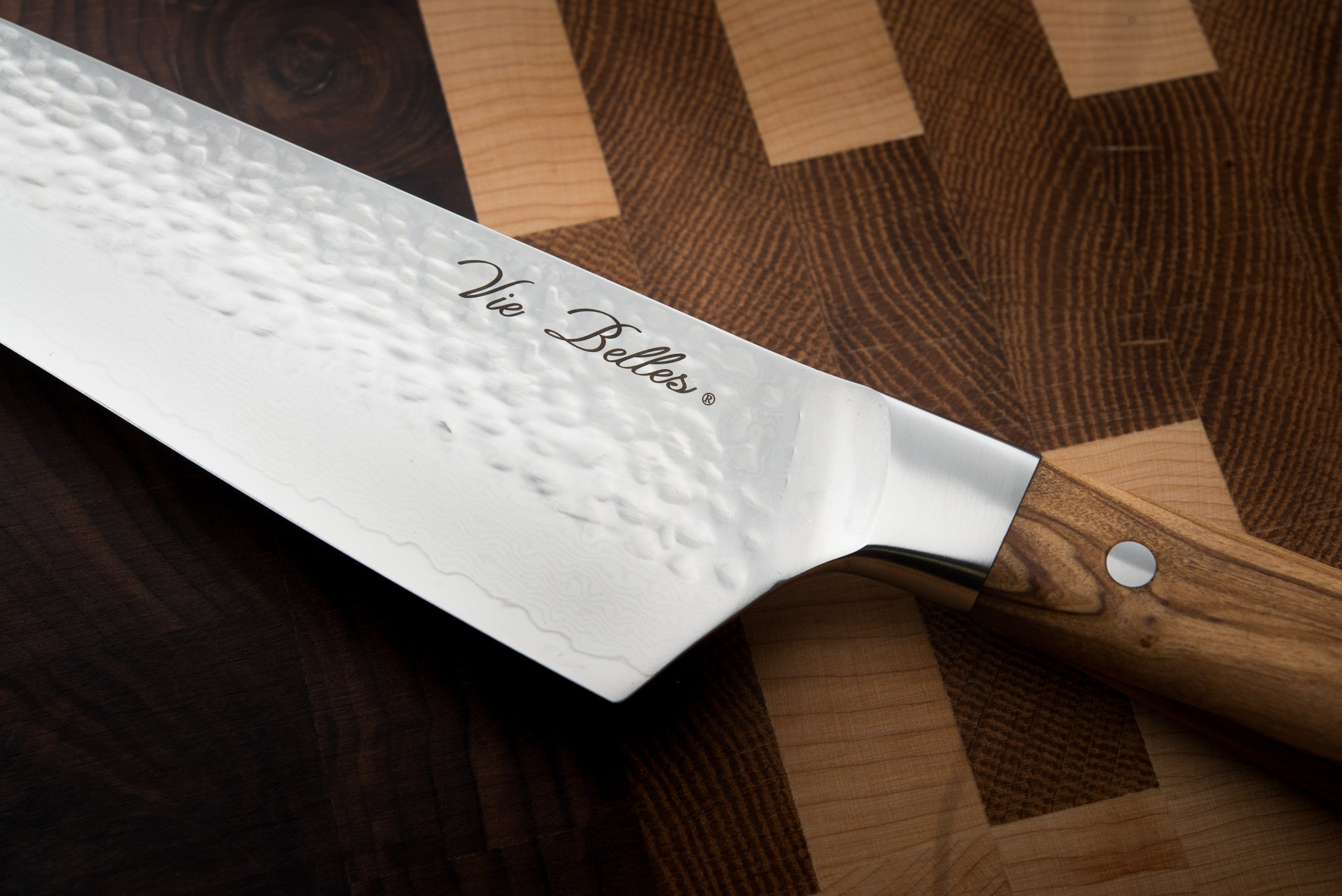 Vie Belles Pro Chef's Knife Close Up