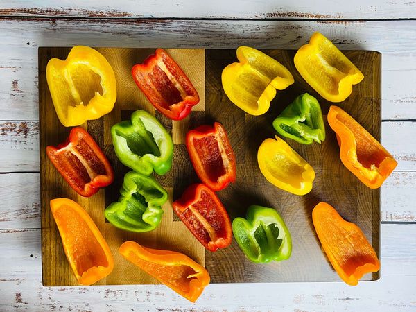 Healthy Rainbow Stuffed Peppers