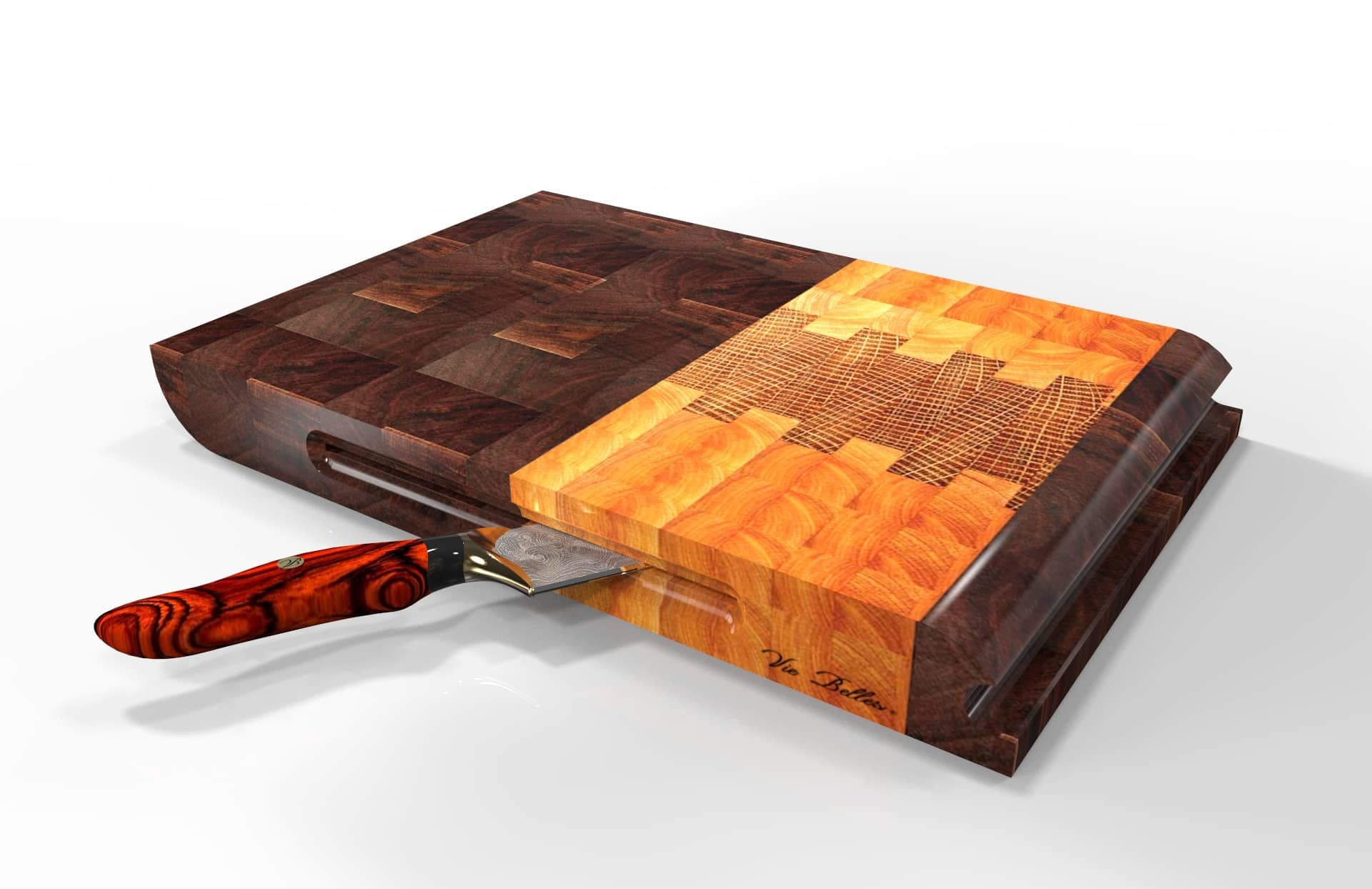 Everyday Cutting Board With Knife By Vie Belles
