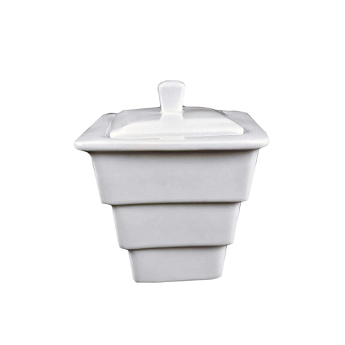 Vie Belles Porcelain Sugar Pot Home and Kitchen