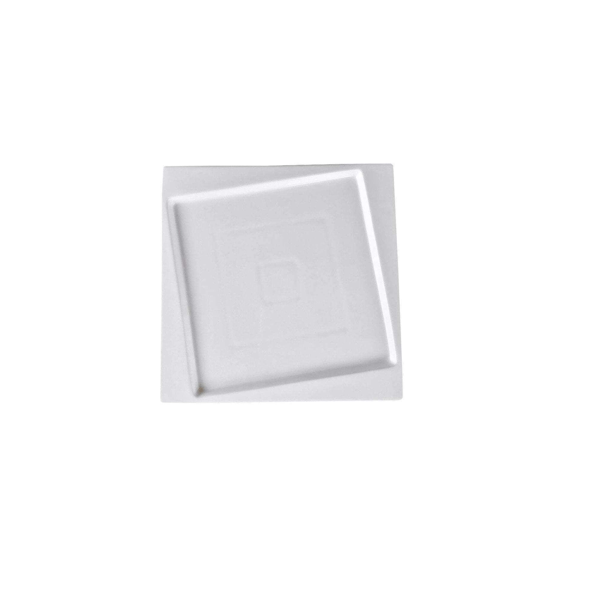 "Vie Belles Tabletop Square Collection 6.3"" (16 cm) Porcelain Bread and Butter Plate"