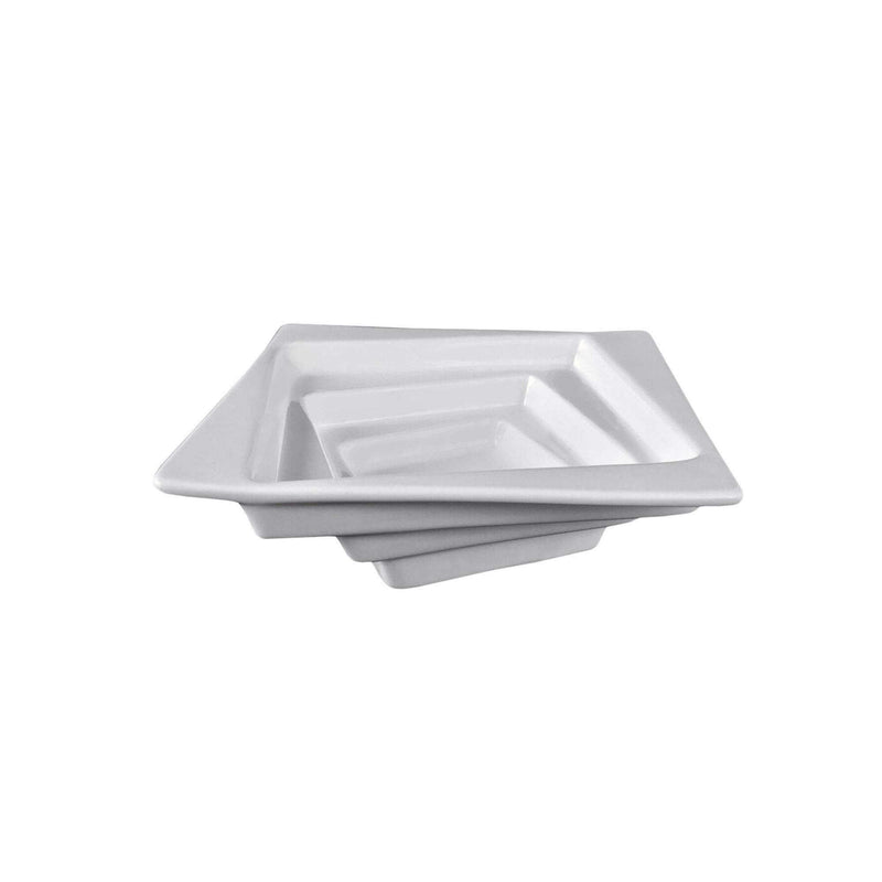 "Vie Belles Tabletop Square Collection 7.9"" (20 cm) Porcelain Salad Bowl"