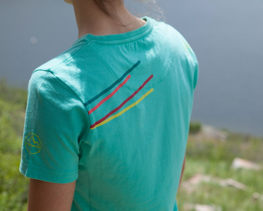 La Sportiva Stripe 2.0 T-Shirt Women's Emerald Lifestyle back