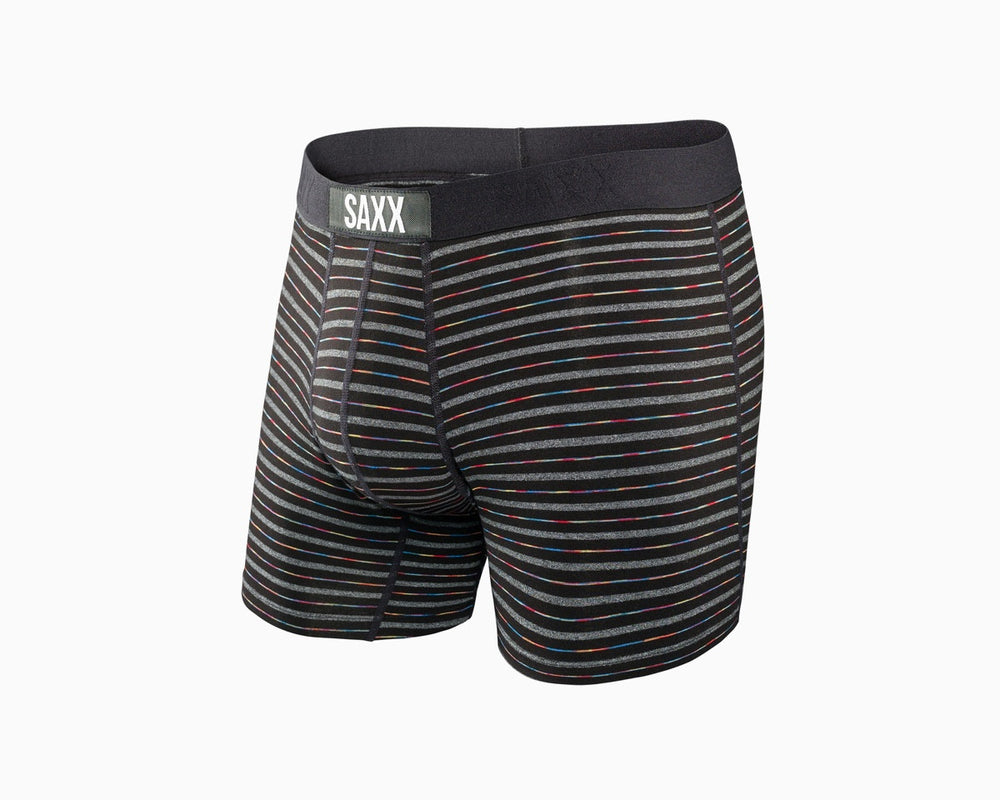 SAXX Vibe Boxer in Black Gradient Stripe