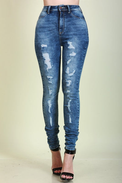 Don't stress Denim High Waist Jeans
