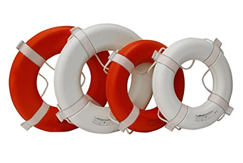 Kemp 10-206-ORG 20 In. Coast Guard Approved Ring Buoy, Orange