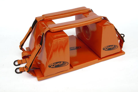 "Orange Head Immobilizer for Spineboard w Straps baseplate Floats 10"" x 16"""