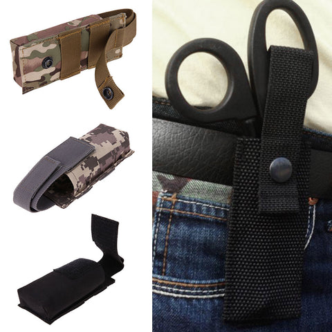 Tactical Scissor Pouch Durable Military Medical EMT Scissor Bag