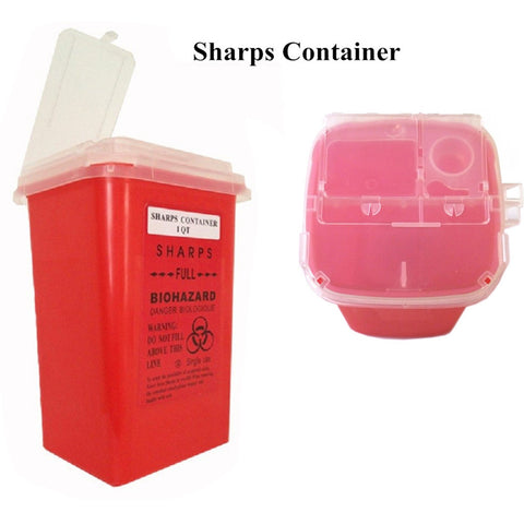 Pro 1QT Red Medical Tattoo Sharps Container Infectious Waste Box Storage Supply -- TA-114R