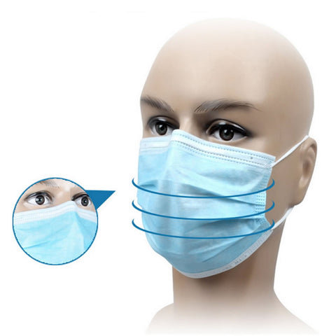 100 Pcs Disposable Anti-bacteria Against Dust Mask Respirator