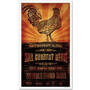 Hill Country Revue CD Release Party Poster