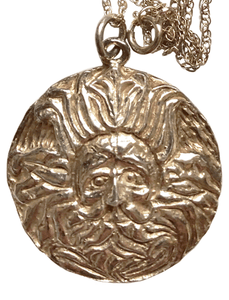 Vintage Medusa Pendant Necklace by The Roman Baths Bath