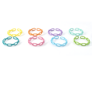 Color Thin Chain Ring