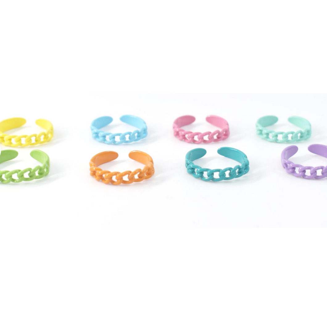 Color Thin Link Ring