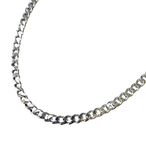 Silver Miami Link Necklace