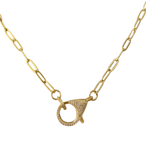 Pave Clasp Necklace