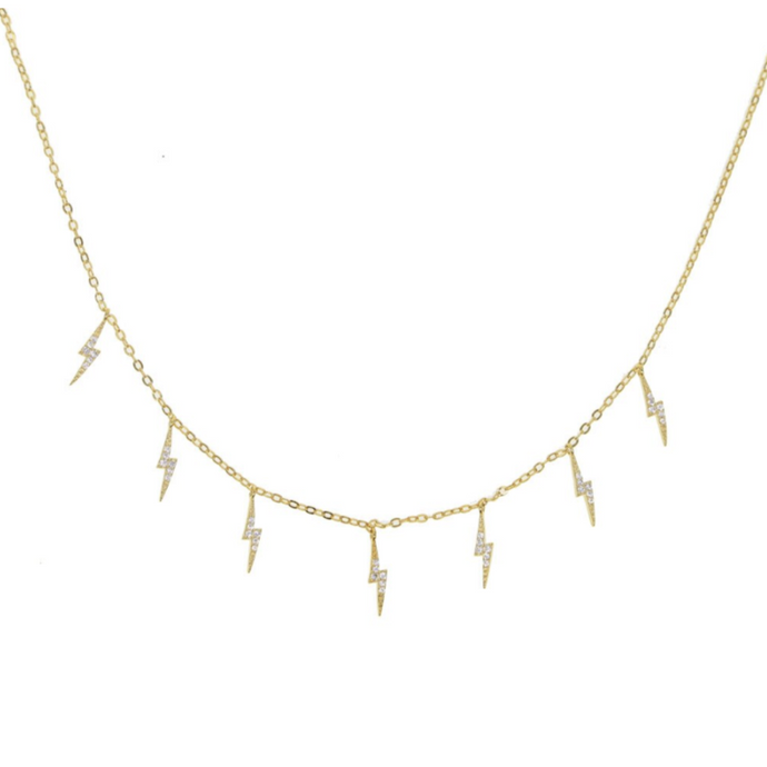 Lightning Bolt Drop Necklace