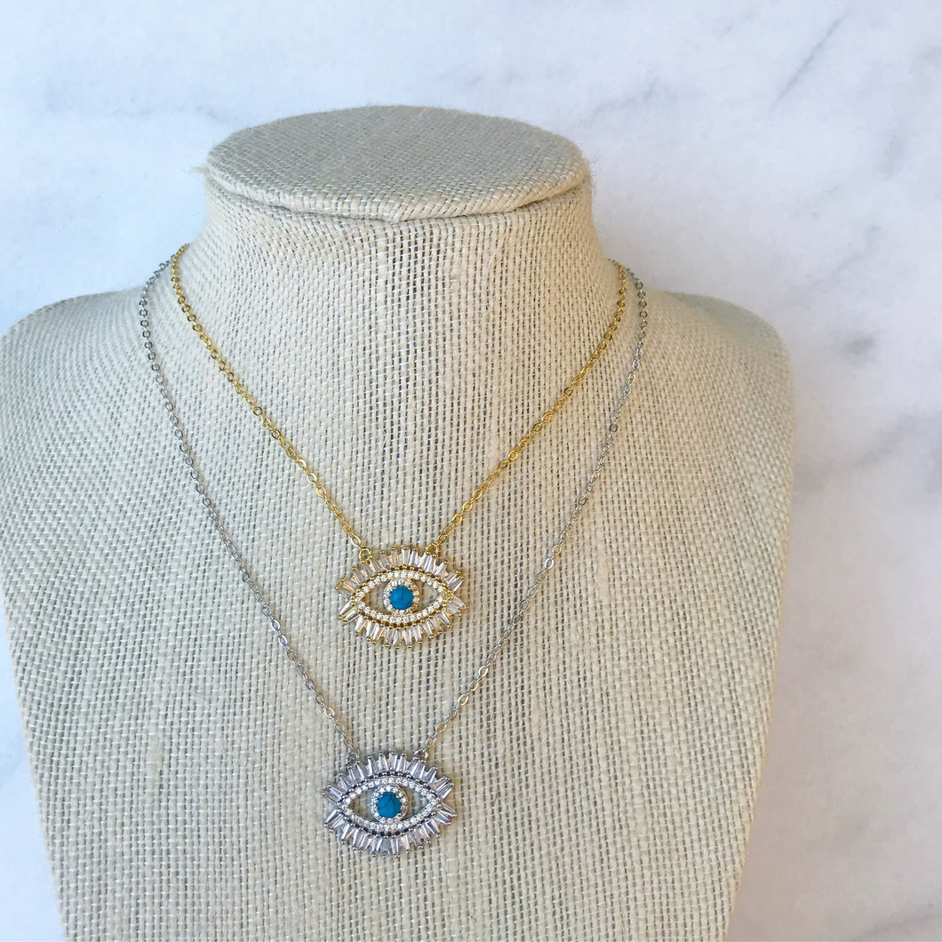 Mykonos Eye Necklace