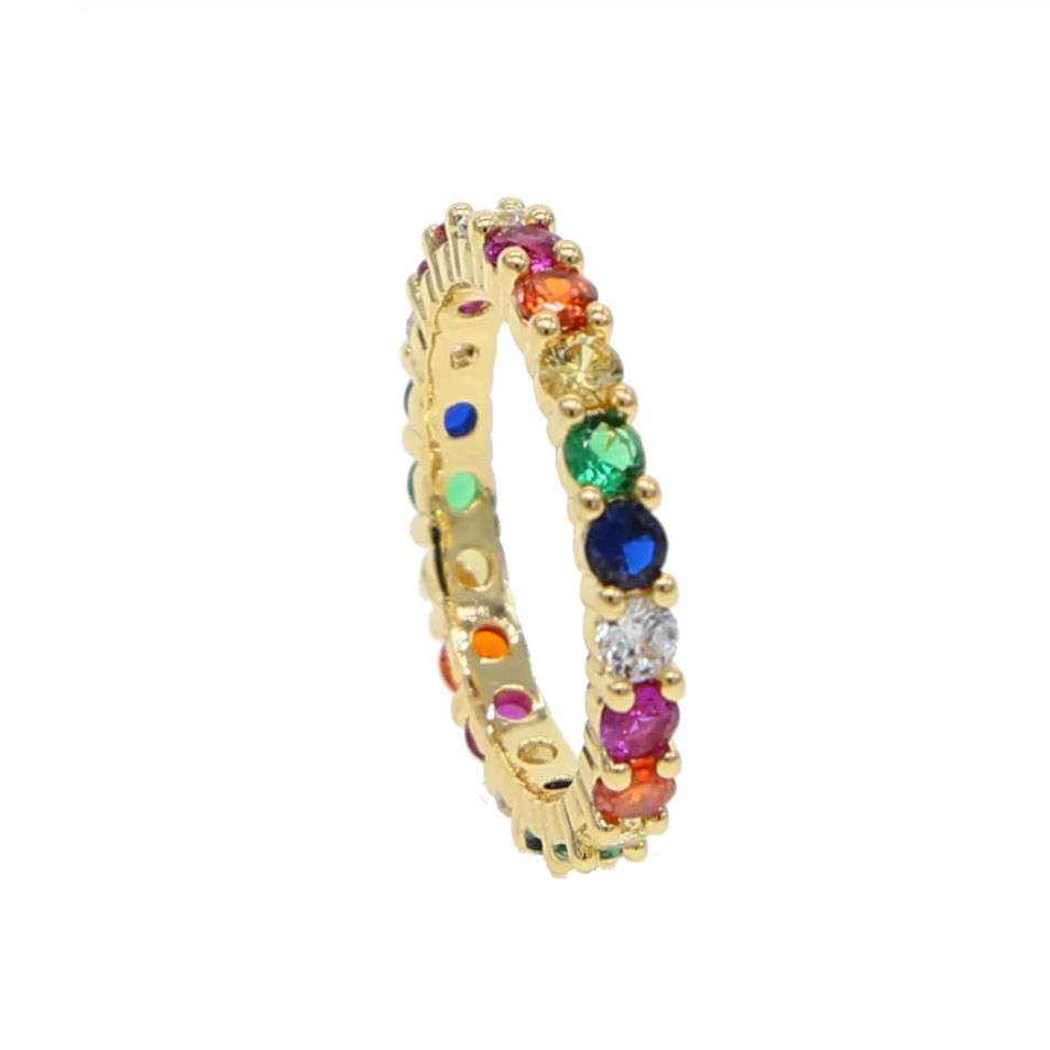 Rainbow Stacking Ring