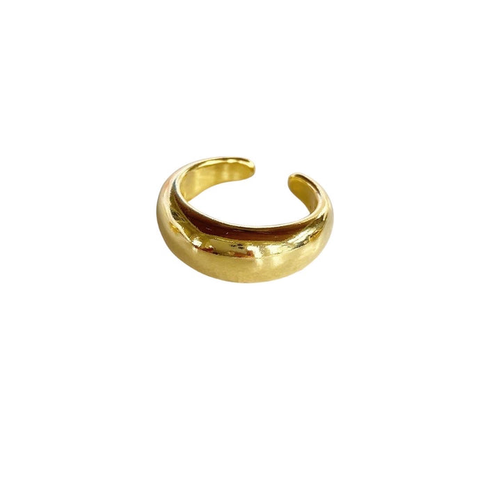 Thick Gold Band Ring