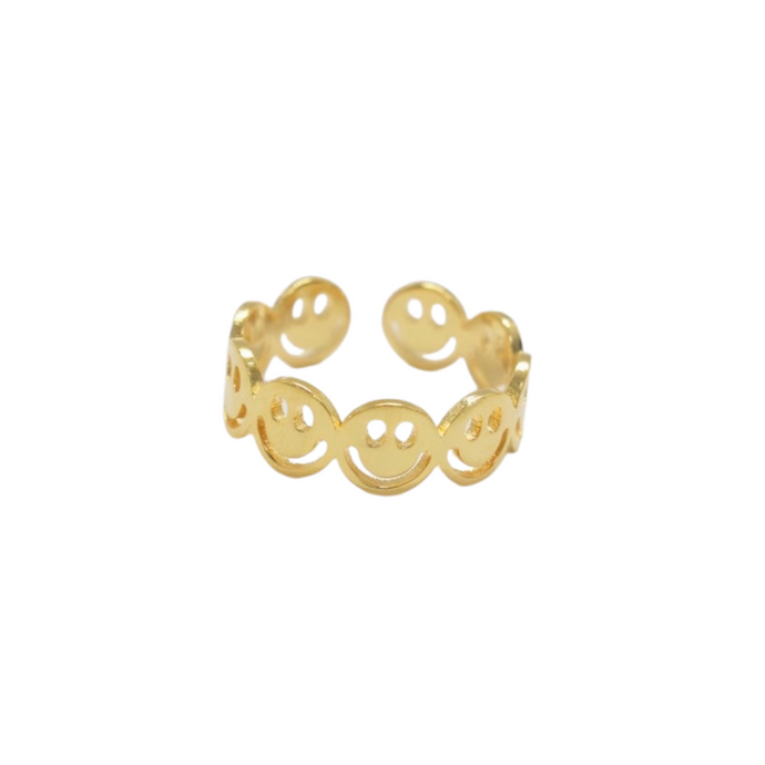 Smiley Infinity Ring