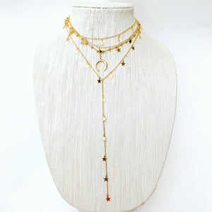 Gold Star Dangle Choker