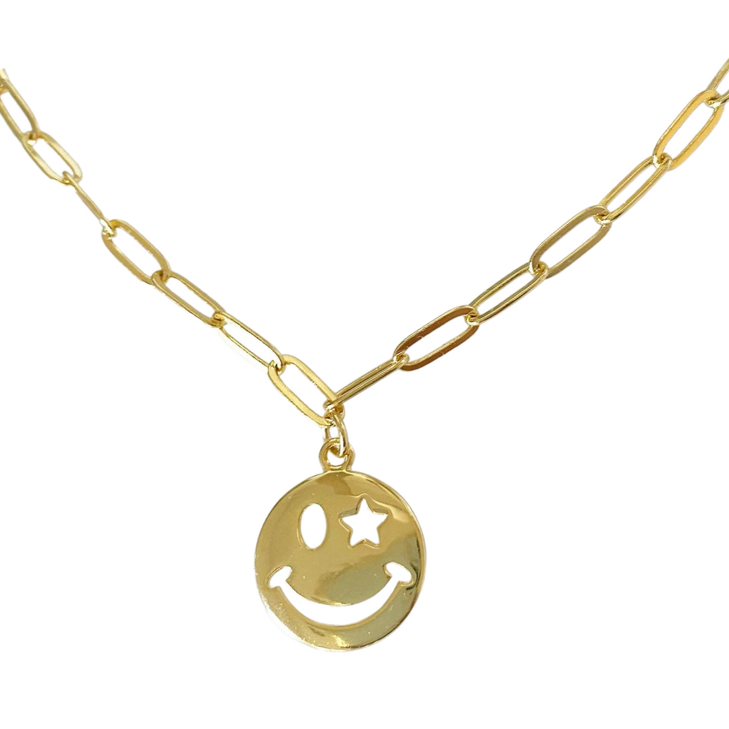 Star Smiley Necklace