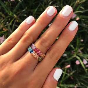 Ombre Oval Rainbow Ring