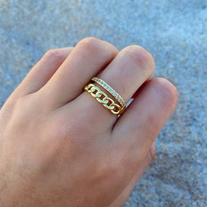 Double Band Link Ring