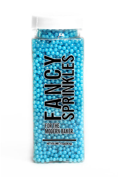 MINI SHIMMER BLUE PEARLS (VEGAN) - FANCY SPRINKLES