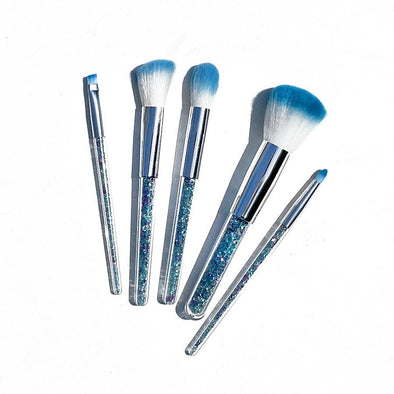 BLUE CRYSTAL BLENDING BRUSH SET (5 Pieces) - FANCY SPRINKLES