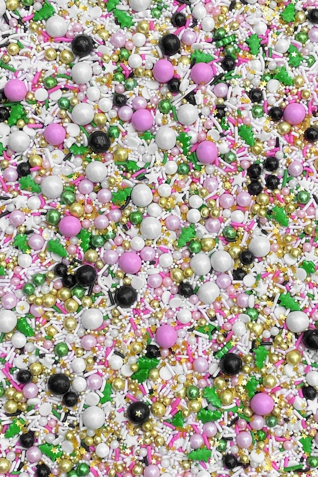 Green Black White Pink Sprinkle Balls Christmas Tree Sprinkles Fancy Sprinkles