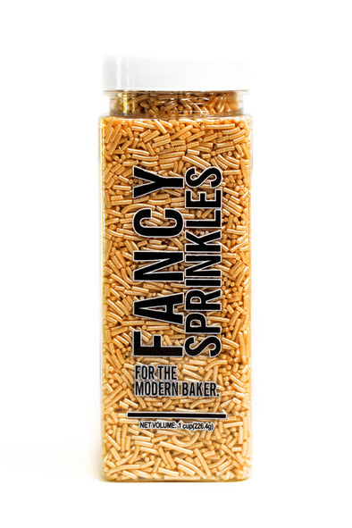 GOLD CRUNCHY JIMMIES® (VEGAN) - FANCY SPRINKLES