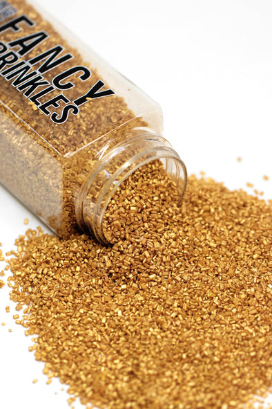 GOLD PEARLY SUGAR CRYSTALS - FANCY SPRINKLES