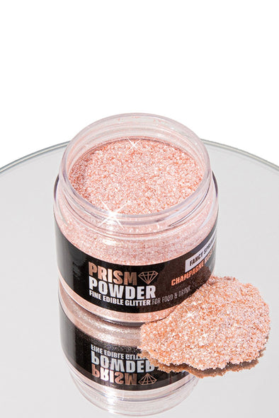 JUMBO CHAMPAGNE ROSE GOLD PRISM POWDER - FANCY SPRINKLES