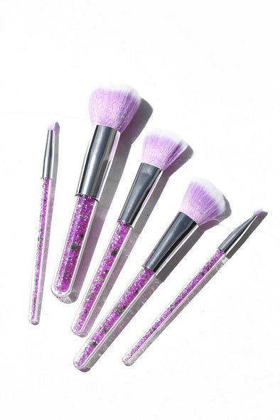 PURPLE CRYSTAL BLENDING BRUSH SET (5 Pieces) - FANCY SPRINKLES